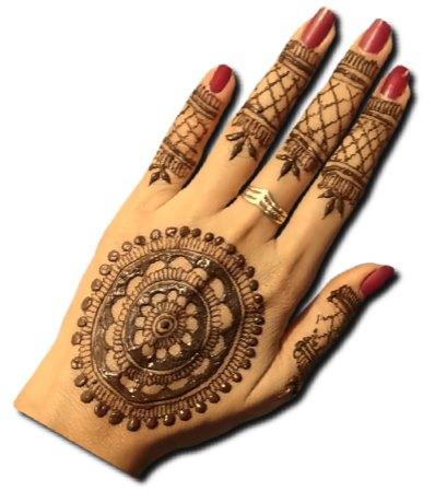 Mandala Back hand Stylish Henna
