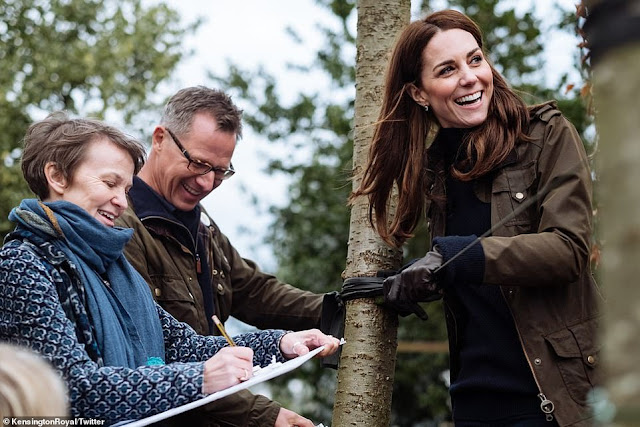 Księżna Kate przybyła sprawdzić jak idą prace przed RHS Chelsea
