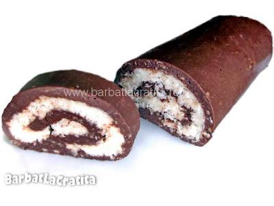 Rulada din biscuiti cu cocos reteta