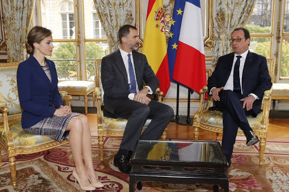 Queen Letizia and King Felipe visit France