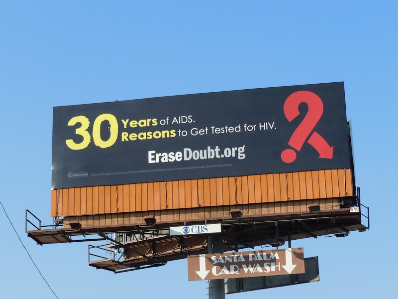 30 years AIDS billboard