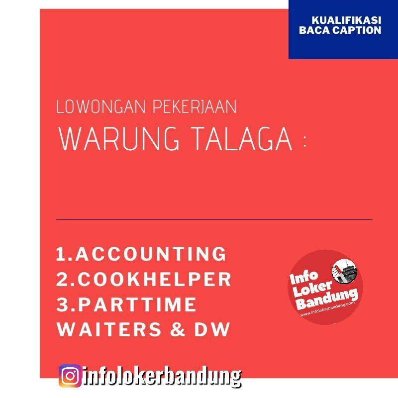 Lowongan Kerja Warung Talaga Bandung Desember 2019