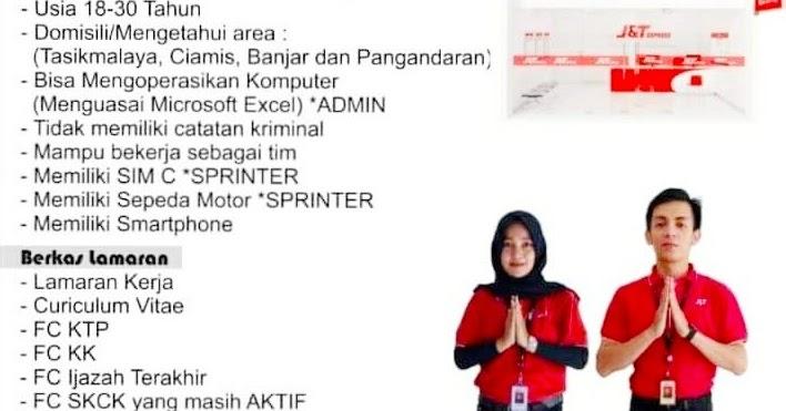 Loker Admin Sprinter Kurir J T Express Tasikmalaya 2021
