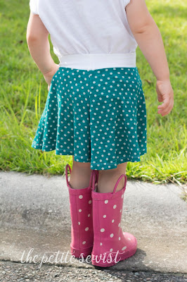 girls culottes sewing pattern