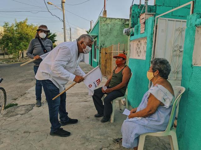 Convencen propuestas de Daniel González, El Turco, a ciudadanos del II Distrito Local en Mérida