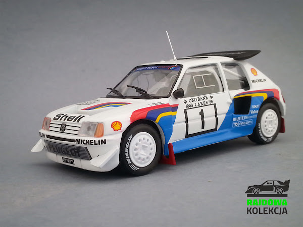 IXO Eaglemoss Peugeot 205 T16 E2 Winner 1000 Lakes Rally 1986