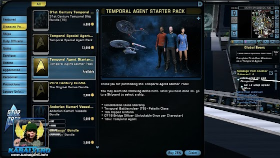 Star Trek Online Agents of Yesterday Starter Pack