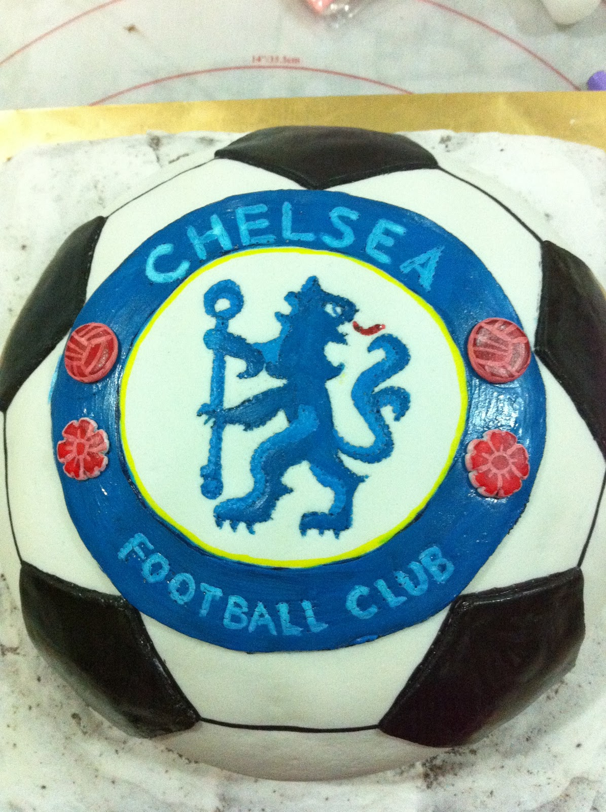 Home May De Cakes The Making Of Chelsea Soccer Cake