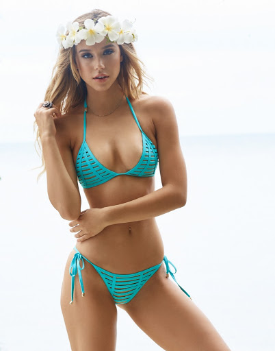 Alexis Ren hot bikini body photo shoot for Beach Bunny swimwear models