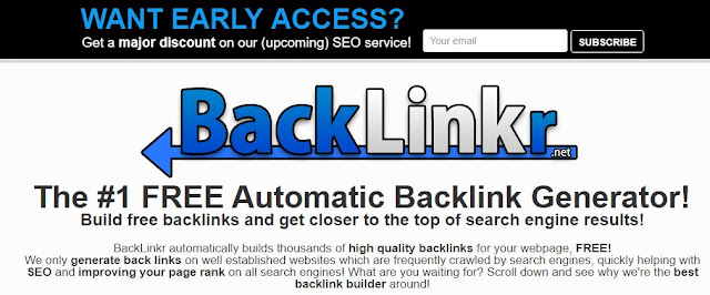 Free Automatic Backlink Generator – BackLinkr