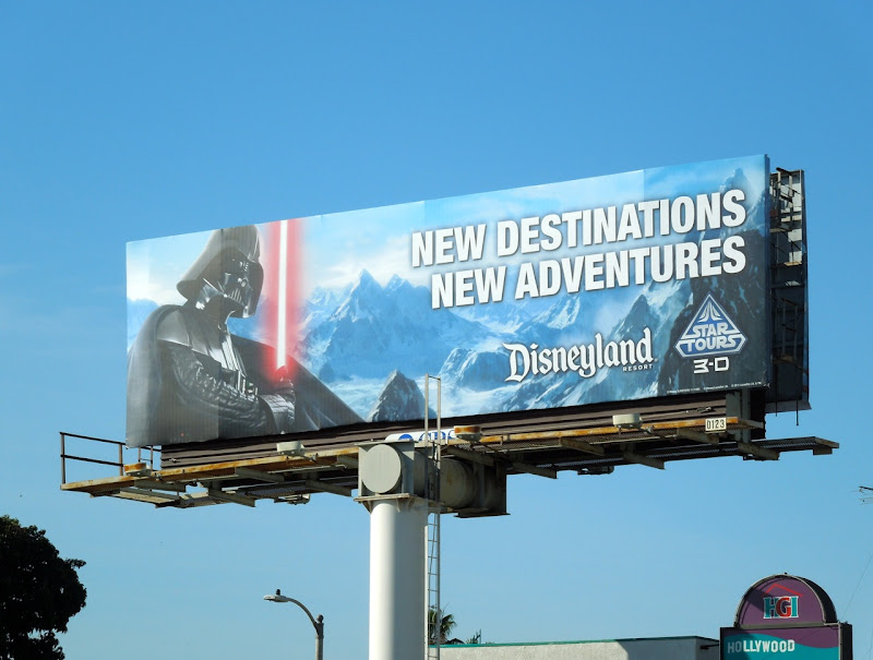 Star Tours Darth Vader billboard