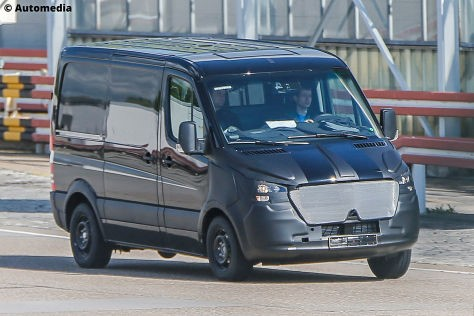 2018 mercedes benz sprinter. unique 2018 mercedesbenz is working on a new generation of the sprinter van series  the was scooped in two body styles commercial and people carrier on 2018 mercedes benz sprinter