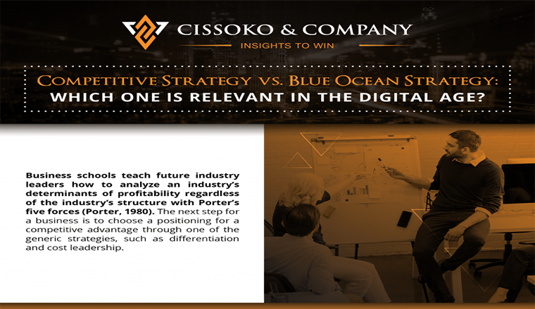 The Competitive Strategy VS. The Blue Ocean Strategy #infographic
