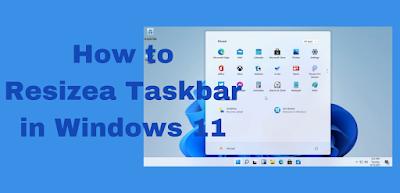 How to Resize a Taskbar in Windows 11