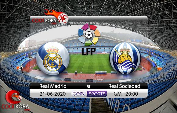 مشاهدة مباراة ريال سوسيداد وريال مدريد اليوم 21-6-2020 في الدوري الأسباني