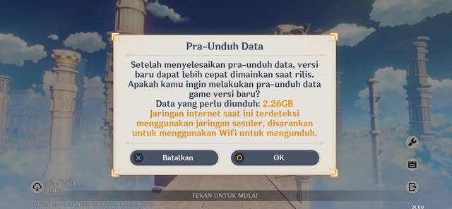 size update pra unduh android