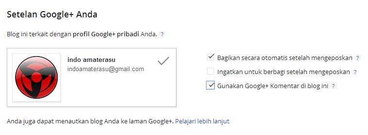 Mengaktifkan Auto Posting di Google + dan Google Komentar