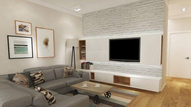 Salas modernas con muebles de tv centro entretenimiento for Muebles para decorar