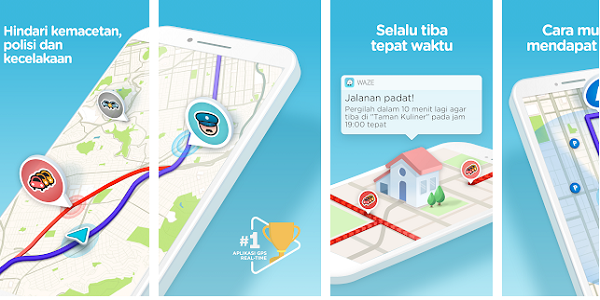 Aplikasi GPS TERBAIK WAZE