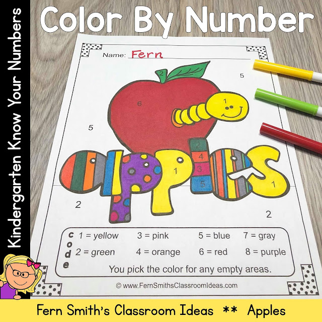 You will love the no prep, print and go ease of these Fall Color By Number Kindergarten Know Your Numbers Apple Themed Printables. This FALL FUN Themed Color By Number Kindergarten Know Your Numbers Printables includes five pages for introducing or reviewing numbers. Learning numbers is an essential skill to master in Kindergarten. Students need to know how to write their numbers from 0 to 20. Each page in this Fall Apple Color By Number Kindergarten Know Your Numbers resource reinforces those skills with gradual difficulty by have nothing but numbers on each page, see below to see the exact numbers that are on each page. Your students will adore these FIVE FALL FUN Color By Number worksheets while learning and reviewing important NUMBER skills at the same time! With the FIVE Answer Keys also included, this helps you quickly and efficiently check your students work in a very short amount of time.
