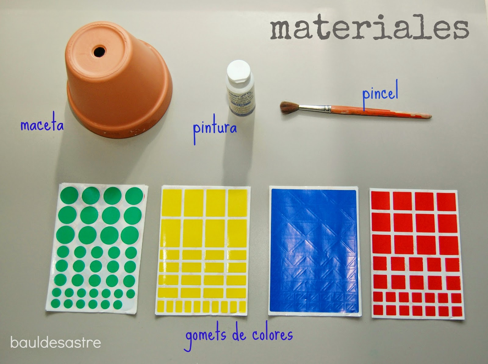 diy decorar una maceta con gomets