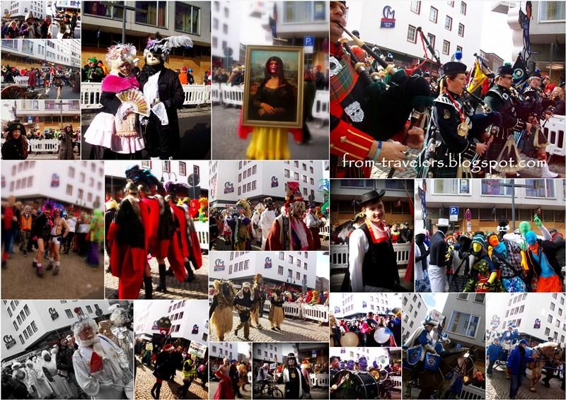 hujan coklat di rosenmontag karneval