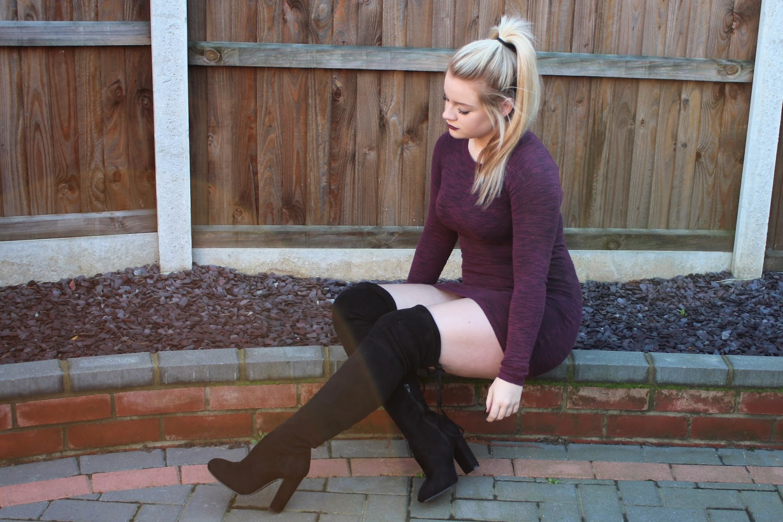 jumper dress and over the knee boots blog post