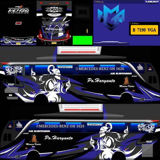 Po Haryanto AD11JB Kenzo Hr078 : Skin Livery Bus Simulator Indonesia