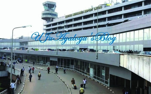 Panic as plane catches fire at Lagos airport