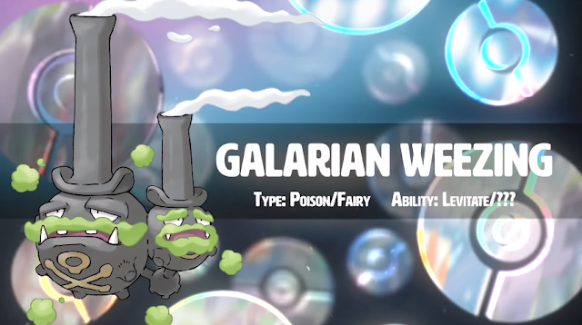 Galarian Galar Weezing Pokémon Sword Shield Poison Fairy