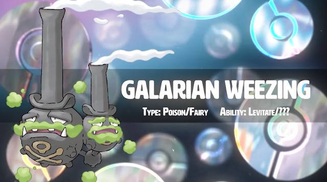 Galarian Galar Weezing Pokémon Sword Shield Poison Fairy