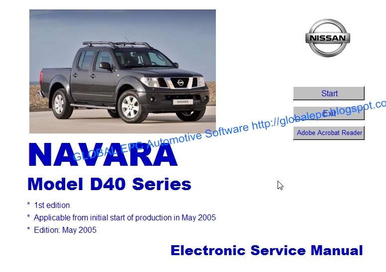 Automotive Repair Manuals  Nissan Navara D40 2004