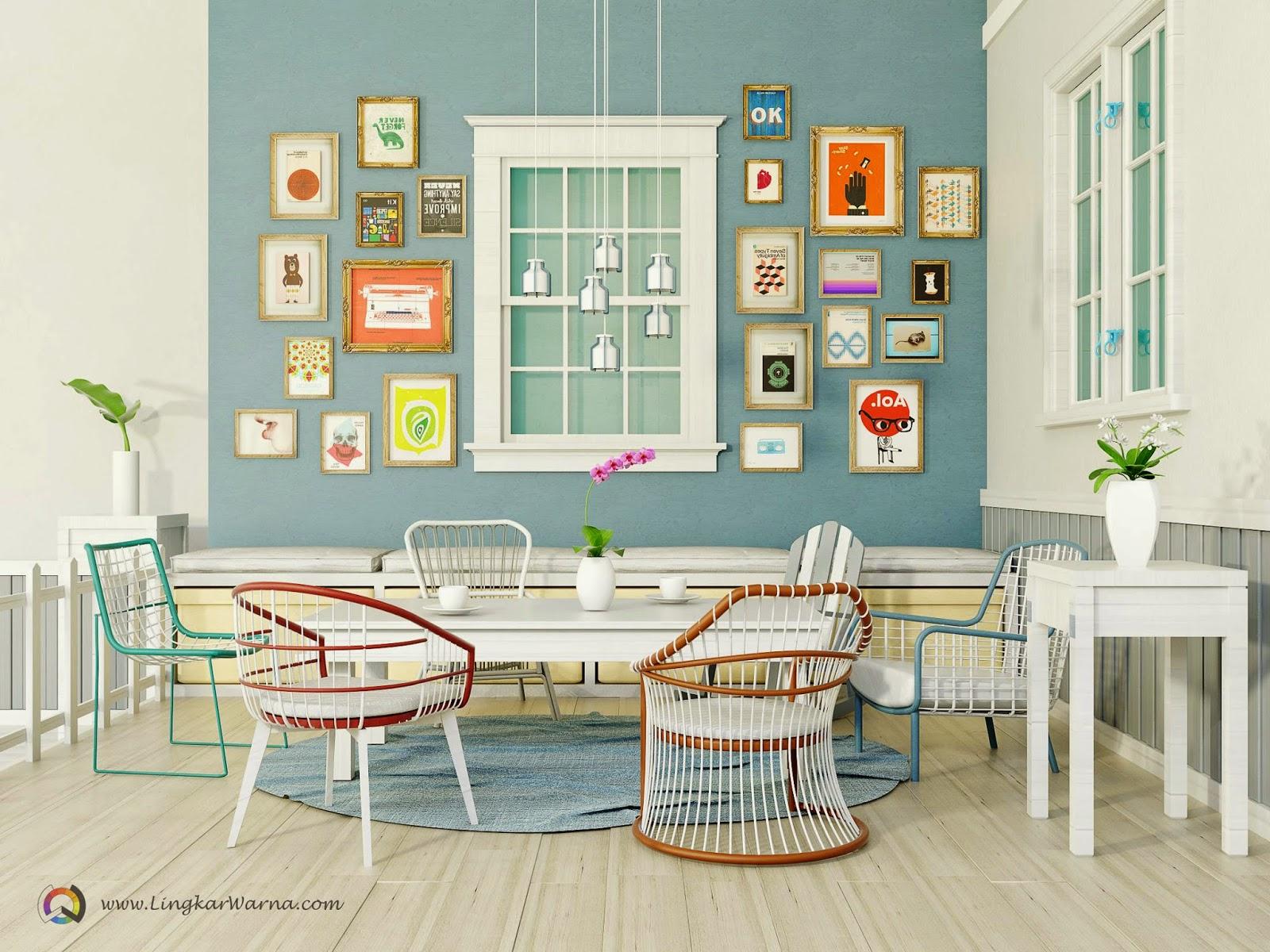 Interior desain rumah minimalis berpenampilan retro