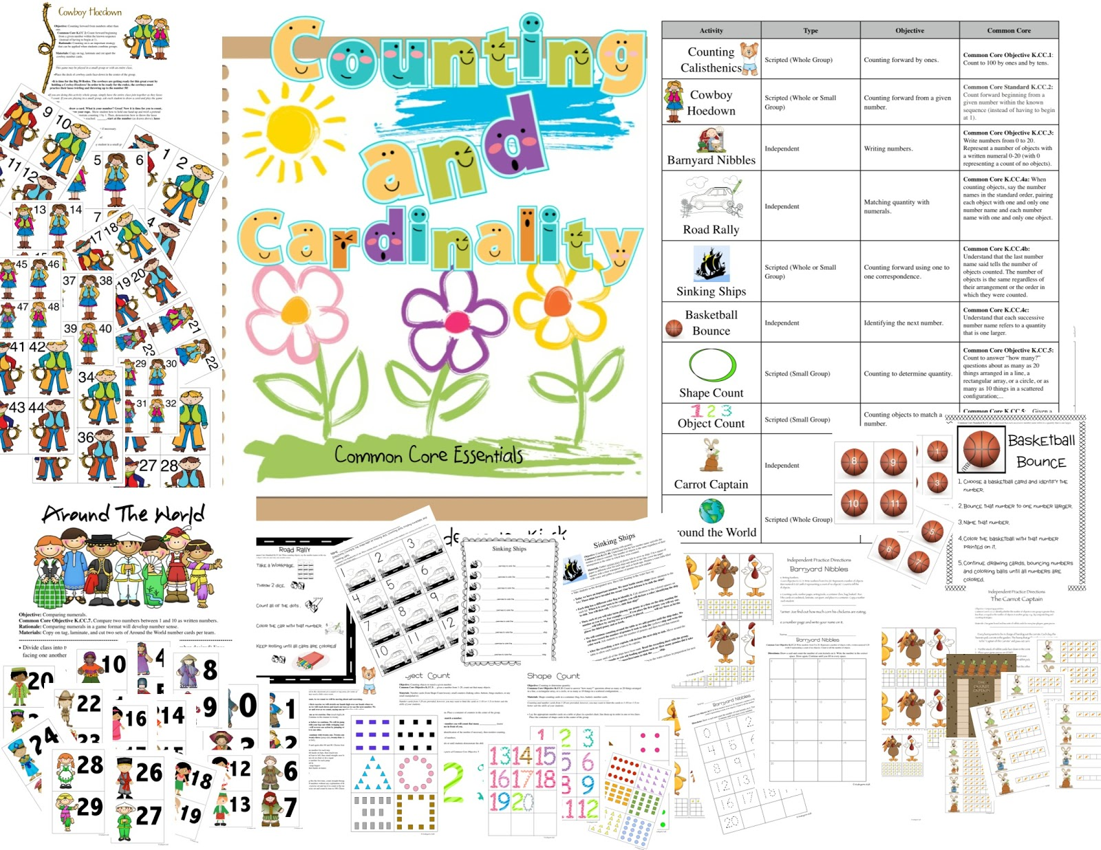 Kindergarten Kiosk Counting And Cardinality