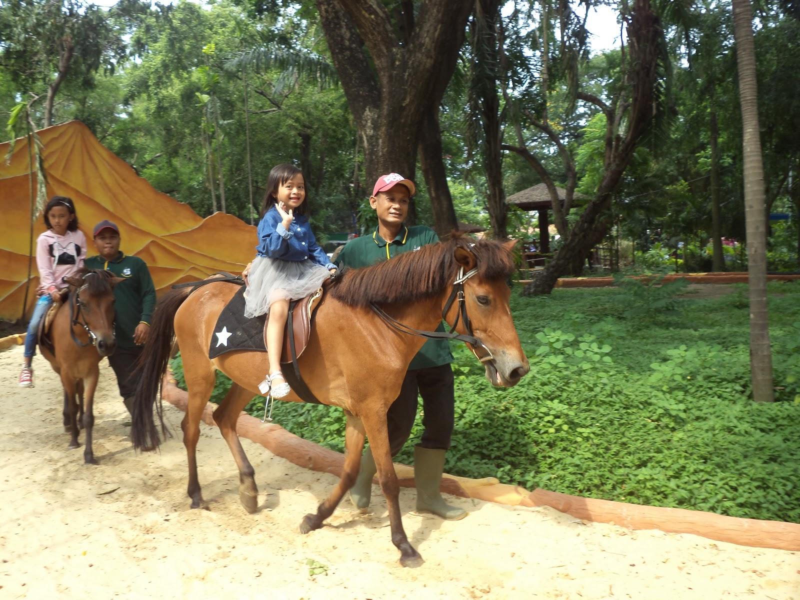 Area berkuda dan naik unta yang bersih harga naik Wahana ini adalah Rp15.000