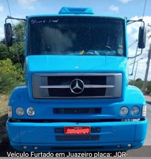 Monteirense tem caminhão tomado por assalto em Juazeiro