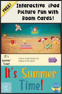 Try some free, interactive picture fun for summer with this BOOM Card Freebie from Looks Like Language