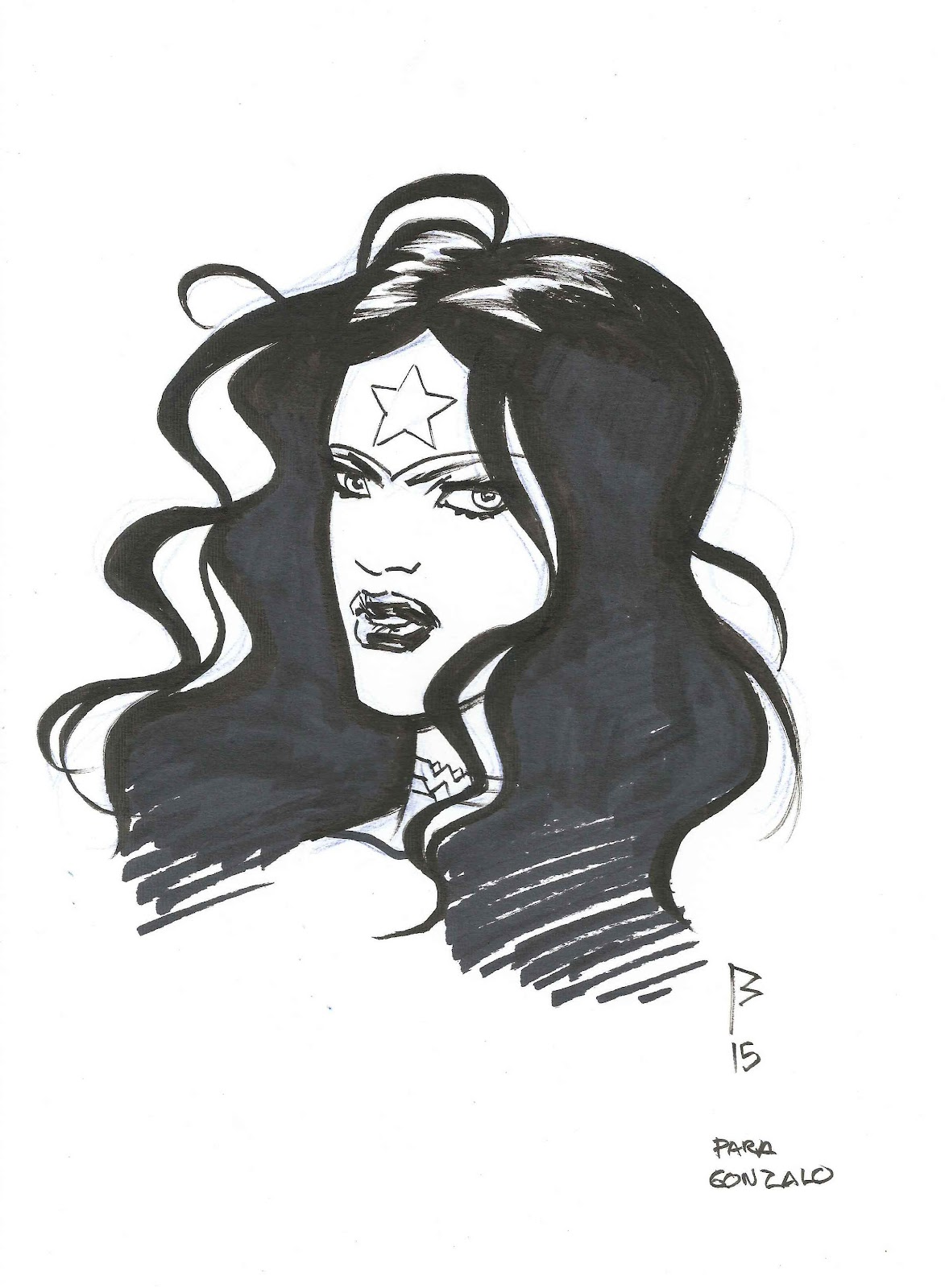 Los mil y un originales sketch de wonder woman por for Puerta wonder woman