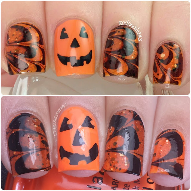 13 Days of Halloween: Pumpkin Watermarble