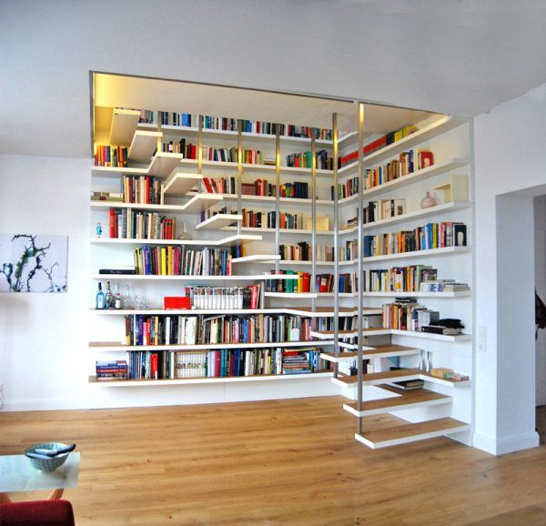 Library staircase designs