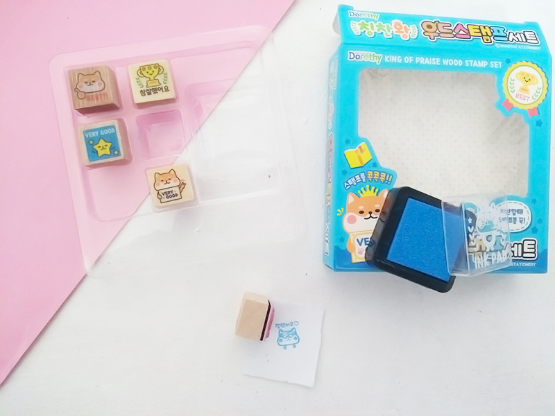 Stamp set kawaii box