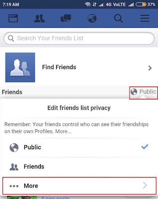 Private facebook friends list