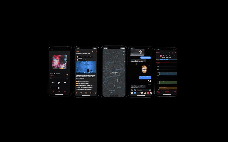 Apple iOS 13 with Dark Mode, macOS Catalina, iPadOS, watchOS 6, tvOS 13 announced