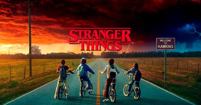 Uno de los carteles principales de la serie estadounidense Stranger Things