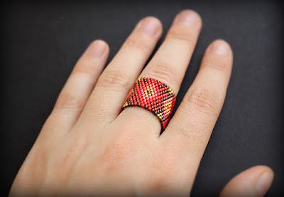 крупное кольцо бижутерия купить интернет магазин изделий из бисера ручной работы
