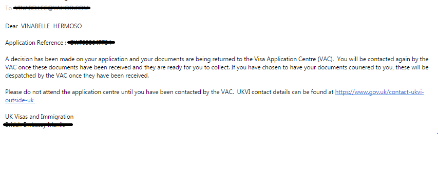 Your Uk Visa Application Has Been Despatched