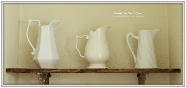 Farmhouse Style- Half Bathroom-Vintage Ironstone-From My Front Porch To Yours