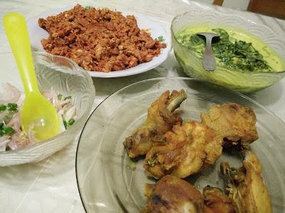 Sambal Telur Hancur, Lemak Pucuk Ubi dan Ayam Goreng Menu Simple Tapi Sedap Untuk Berbuka
