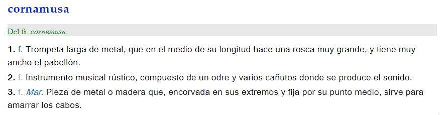 Cornamusa - definición