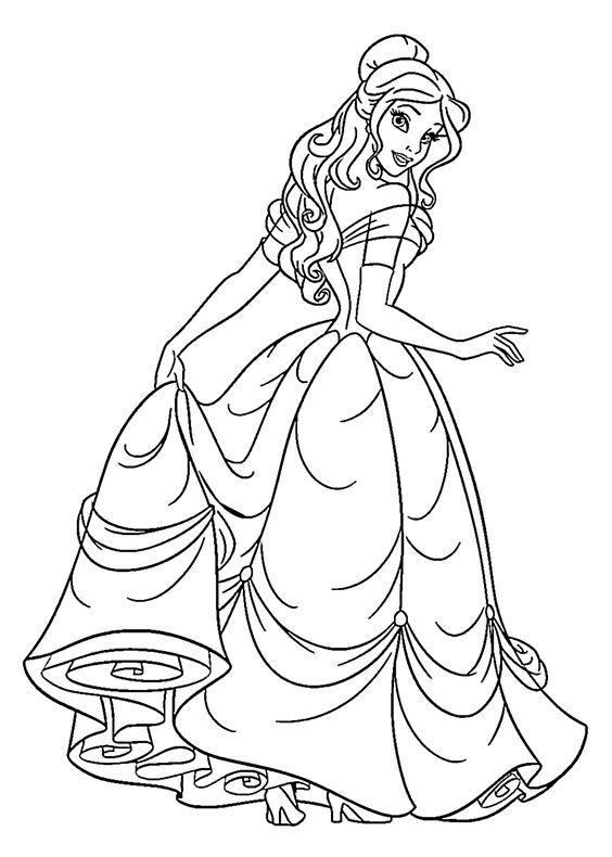 Hình tô màu công chúa Bella
